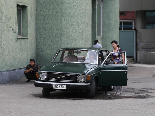 Tourists, such as the one who shot this photo in September 2010, still report seeing 1970s-era Volvos on North Korean roads.