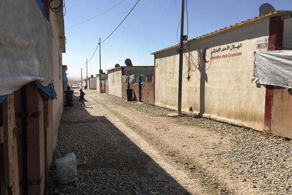 The Dabaga camp is home to Iraqis displaced by the war against ISIS. Aid workers are worried about the effects on children, including thousands who have lost parents in the battle.