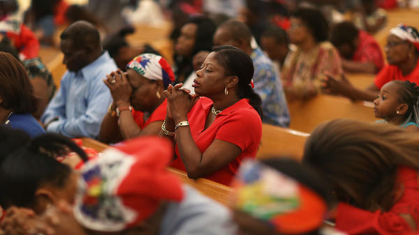 A May prayer service at Notre Dame D'Haiti Catholic Church in the Little Haiti neighborhood of Miami touched on the fate of Haitians under temporary protected status. On Monday, the Department of Homeland Security decided to let the protection expire.