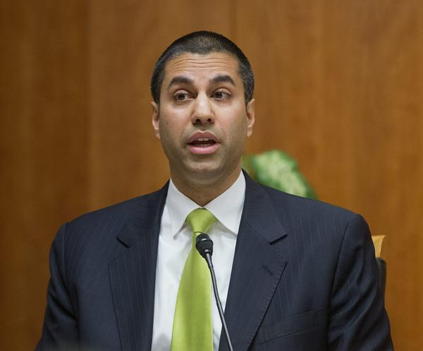 In this Feb. 26, 2015, file photo, Federal Communication Commission Commissioner Ajit Pai speaks during an open hearing and vote on net neutrality in Washington. The FCC is planning to vote in November on proposals to roll back ownership rules that were meant to support diverse voices in local media. (Pablo Martinez Monsivais/AP)