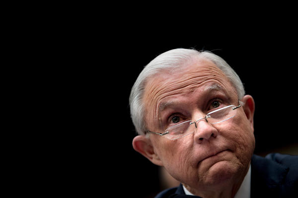 Attorney General Jeff Sessions testifies on Capitol Hill earlier this month.