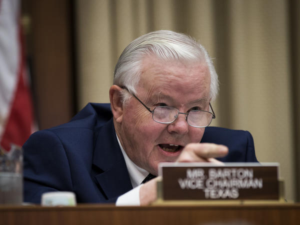 Rep. Joe Barton, R-Texas, says the transcript of a recorded phone call is evidence of a crime against him. In the call, <em>The Washington Post</em> says he threatened to report the woman he was involved with to the Capitol Police if lewd materials he sent her became public.