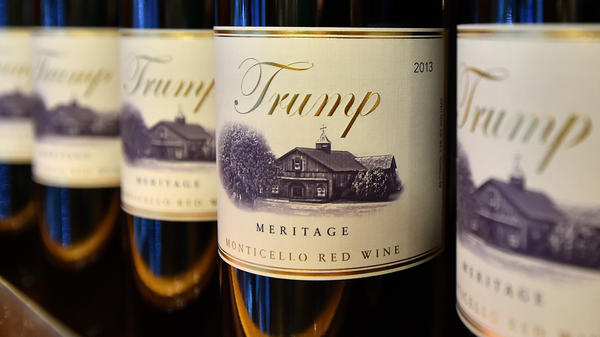 Trump brand wine is seen inside the Trump International Hotel in Las Vegas on February 23, 2016.
