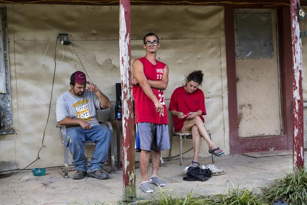 "Chad, Daniel and Veronica in a still from the HBO documentary ""Meth Storm."" (501 Film LLC/Brent Renaud/Courtesy of HBO)"
