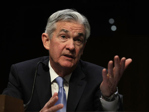 Jerome Powell, nominated to be the next chairman of the Federal Reserve Board, testifies Tuesday during his confirmation hearing before the Senate Banking Committee.
