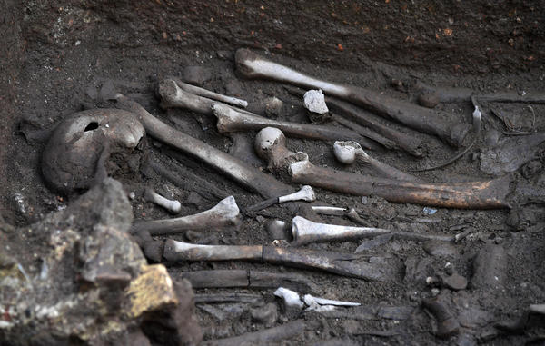 Remains of male soldiers found in Rome. Traditionally, archaeology has focused more on men and male skeletons, like these. But that trend is shifting.