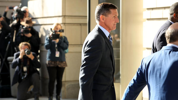 Michael Flynn, former national security adviser to President Trump, arrives for his plea hearing this week in federal court in Washington, D.C.