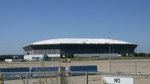 The Pontiac Silverdome, pictured in 2008, was supposed to be demolished on Sunday. But the explosion didn't go as planned.