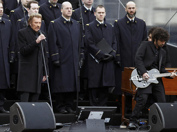 Hallyday sang in January 2016 during a ceremony at Place de la Republique to pay tribute to victims of the November 2015 terrorist attacks in Paris.