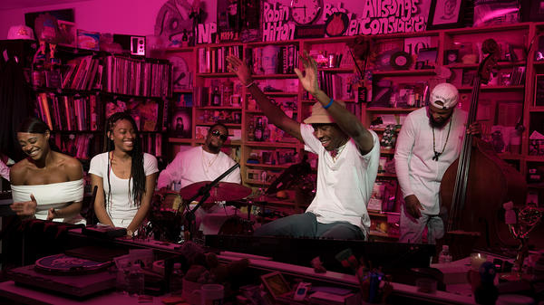Tyler, The Creator performs a Tiny Desk Concert on Dec. 6, 2017 (Jennifer Kerrigan/NPR).