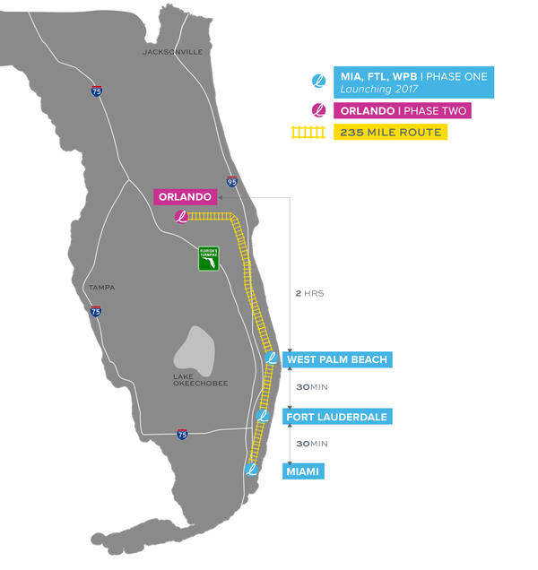 Brightline trains will run along one of the busiest transportation corridors in South Florida. Trains will operate from West Palm Beach to Fort Lauderdale and will expand into Miami early next year.