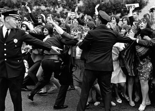 Rolling Stones fans in New York City in June 1964, when the band arrived for its first American tour.