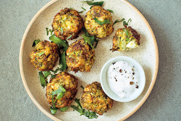 Joan Nathan's zucchini fritters. (Courtesy Knopf)