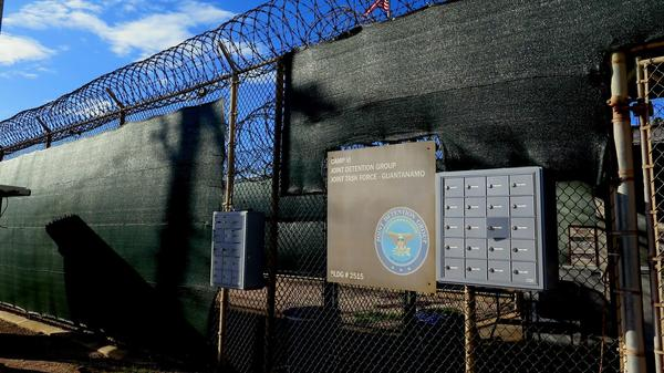 Camp VI, Joint Detention Group, Naval Station Guantanamo Bay, where most inmates are held. The 9/11 defendants are held in a separate facility, Camp VII - its location on the Guantanamo base is classified. This photo was approved for release by the U.S. military.