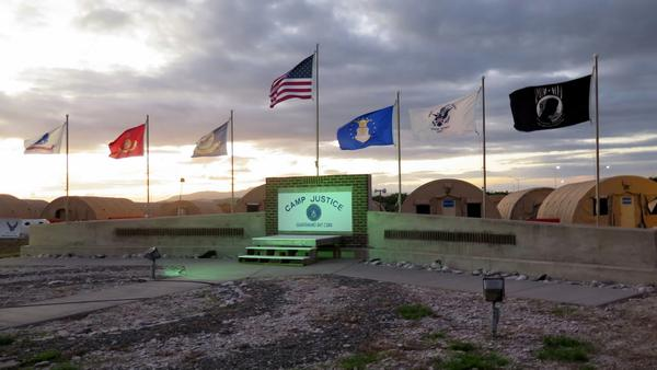 Camp Justice, Naval Station Guantanamo Bay, location of the military commission courtroom. This photo was approved for release by the U.S. military.