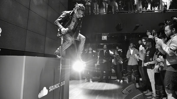 The rapper Vic Mensa performs during a SoundCloud event on Nov. 16, 2016 in New York.