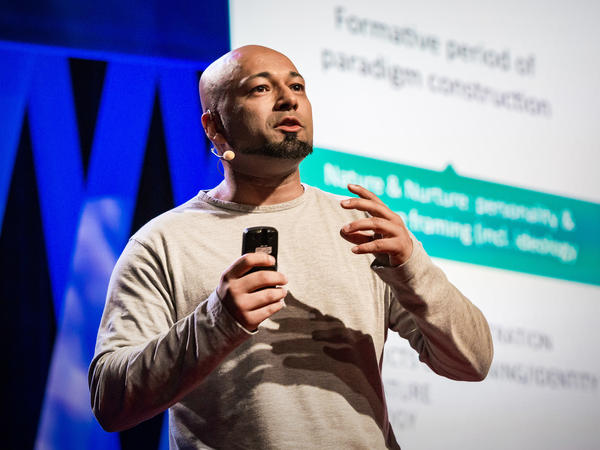 Mubin Shaikh on the TED stage