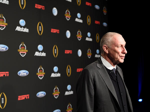 John Skipper in 2015. Skipper is stepping down as CEO of ESPN, citing substance addiction.