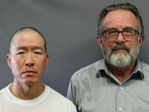 In a recent StoryCorps piece, Greg Gibson (right) speaks with Wayne Lo (left) who was convicted in the 1992 killing of Gibson's son and one other person.