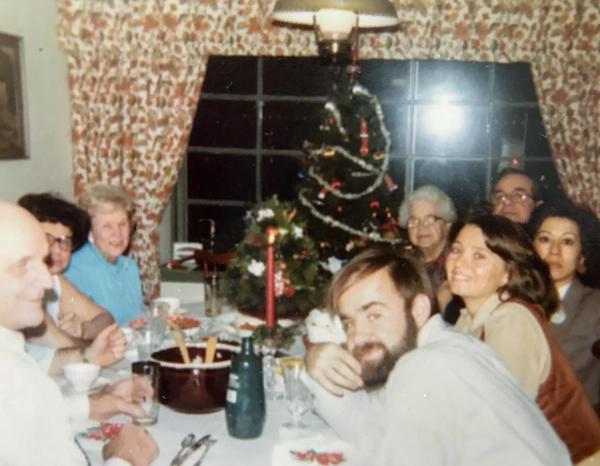 The Beans family gathers for a Christmas Eve pierogi dinner circa 1979, before the author was born.
