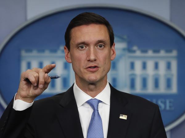 White House Homeland Security adviser Tom Bossert speaks during the daily news briefing at the White House in Washington, D.C., in September.