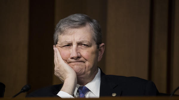 Sen. John Kennedy, R-La., pictured on December 6, 2017, in Washington, D.C., questioned Matthew Petersen in a video that went viral, precipitating Petersen's withdrawal from the judicial nomination process.