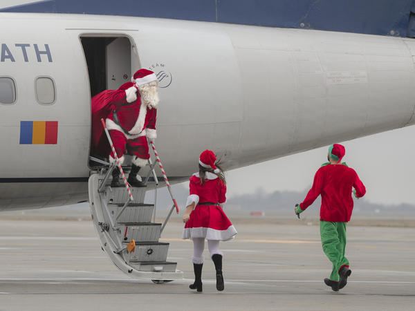 Santa ditched the reindeer this year.