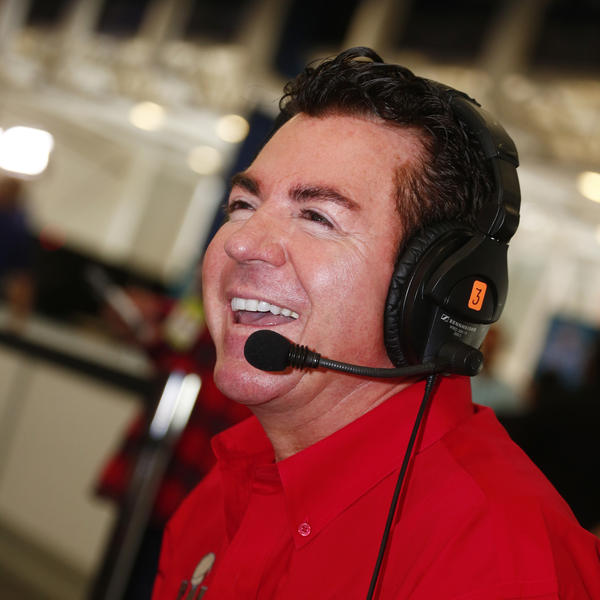 Papa John's founder, chairman and CEO John Schnatter talks on Super Bowl 51 Radio Row, in February, in Houston.