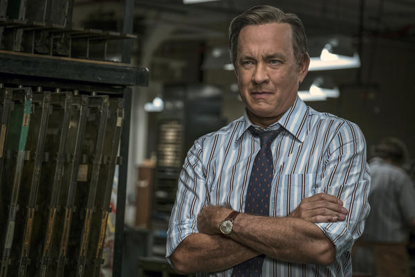 "In this image released by 20th Century Fox, Tom Hanks portrays Ben Bradlee in a scene from ""The Post."" (Niko Tavernise/20th Century Fox via AP)"