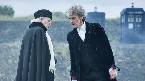 In this year's Christmas episode, the Twelfth Doctor, played by Peter Capaldi, meets his first incarnation — played here by David Bradley.