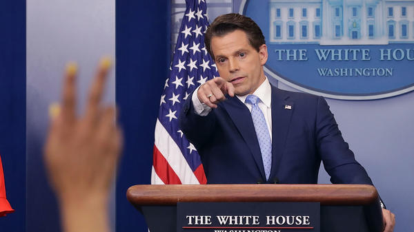 Anthony Scaramucci, whose tenure at the White House was short but attention-getting, made a splash in the first round of voting in the NPR Top Political Story of the Year Bracket.