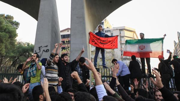 Trump has tweeted support for the protests, such as one in Tehran last week, against the current Iranian regime.