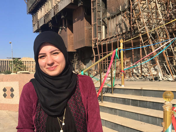 Farah Khaled, 22, wants to leave Iraq and travel to Western countries like America and Australia.