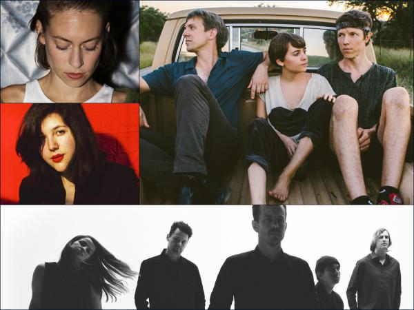 Clockwise from upper left: Anna Burch, Loma, Typhoon, Lucy Dacus