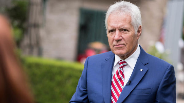 Alex Trebek, seen at a ceremony in LA in June.