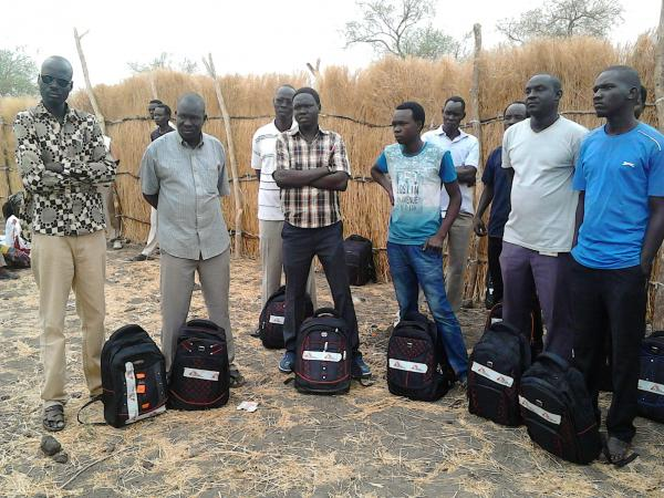 """In South Sudan, the staff of Doctors Without Borders has newly devised """"runaway bags,"""" filled with medical supplies so the health workers can provide care if people have to flee because of conflict."""