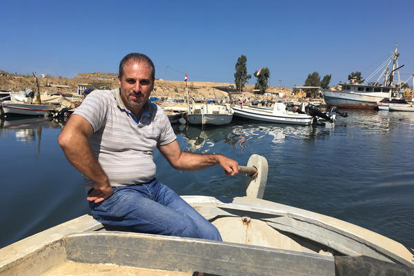 """We are fishing plastic,"" says Lebanese fisherman Emilio Eid."