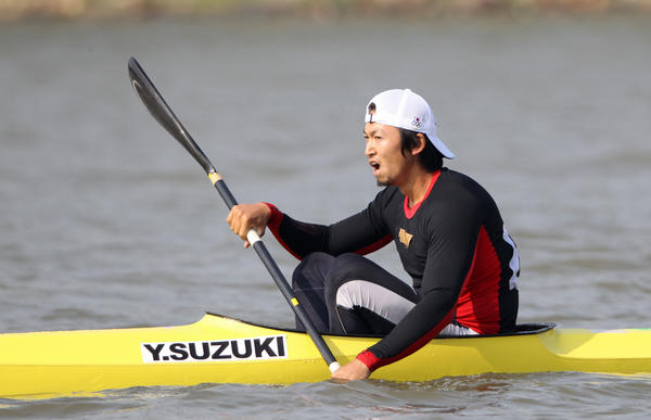 Yasuhiro Suzuki of Japan reacts after competing in the Canoe Sprint Men's Kayak Single 1000m during the Guangzhou Asian Games on Nov. 25, 2010, in Guangzhou, China. Suzuki is now banned for eight years for spiking a fellow Japanese racer's drink with an anabolic steroid.