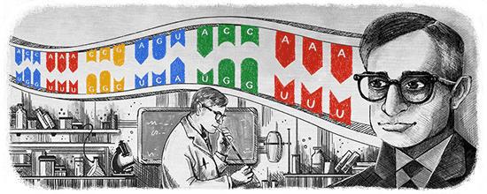 The Google Doodle for January 9, 2018 honors Har Gobind Khorana.