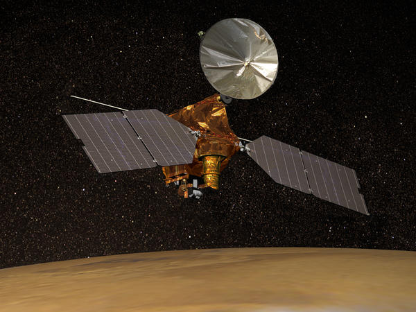 The researchers used the Mars Reconnaissance Orbiter to make observations about ice on Mars.