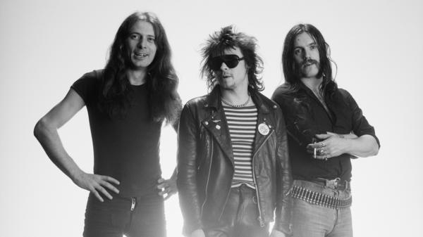 Motörhead circa 1978. From left: Guitarist Eddie Clarke, drummer Phil Taylor and singer and bassist Lemmy Kilmister.