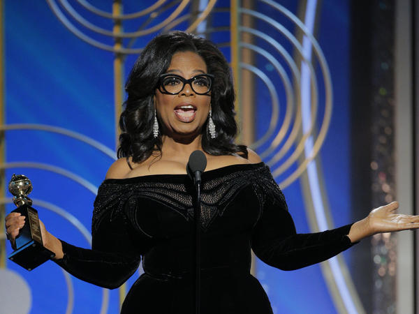 Oprah Winfrey accepts the 2018 Cecil B. DeMille Award during the 75th Annual Golden Globe Awards at The Beverly Hilton Hotel on Sunday. Winfrey's speech spurred talk of a possible presidential run.