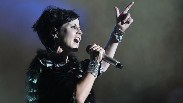 Irish singer Dolores O'Riordan of the Irish band The Cranberries, performing in Cognac, France, in 2016.
