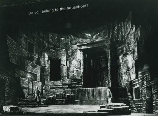 The 1983 Canadian Opera Company production of <em>Elektra, </em>the first to use<em> </em>supertitles.