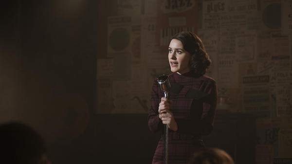 Rachel Brosnahan stars in <em>The Marvelous Mrs. Maisel</em>.