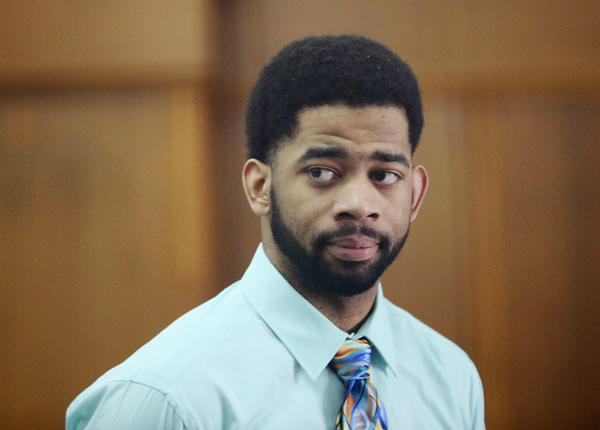 Former Milwaukee police officer Dominique Heaggan-Brown appears in court in Milwaukee in June 2017.