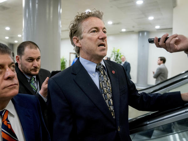 Sen. Rand Paul, R-Ky., at the U.S. Capitol on Thursday.