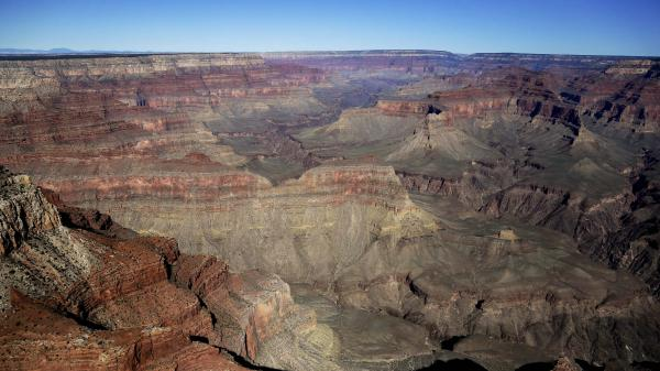 The Grand Canyon National Park is pictured here closed and empty in 2013, during the last government shutdown. Arizona officials guaranteed on Friday however, that the park will remain in full operation if the current shutdown remains in place.