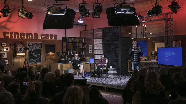 At the Sundance Film Festival in Park City, Utah, NPR's Nina Totenberg talks to Justice Ruth Bader Ginsburg. On stage with them is Robert Redford, founder of the festival.
