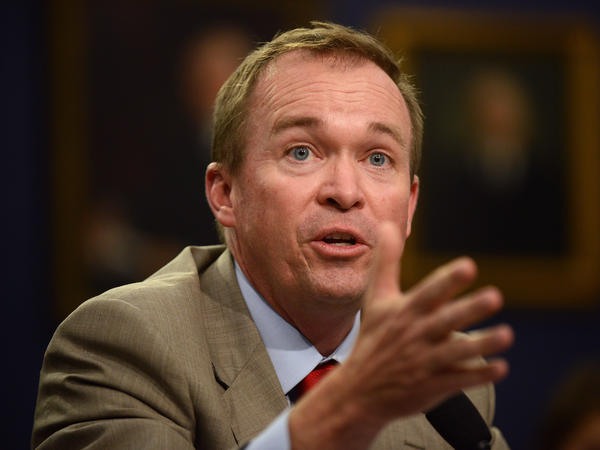 Mick Mulvaney, a former Republican lawmaker and current White House budget chief, was also picked as interim head of the Consumer Financial Protection Bureau.